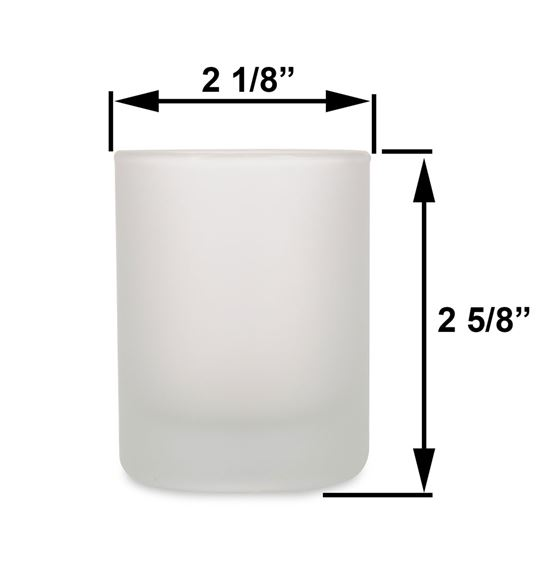 Small - 3oz Frost Tumbler Jar by Maddison Avenue Candle Company