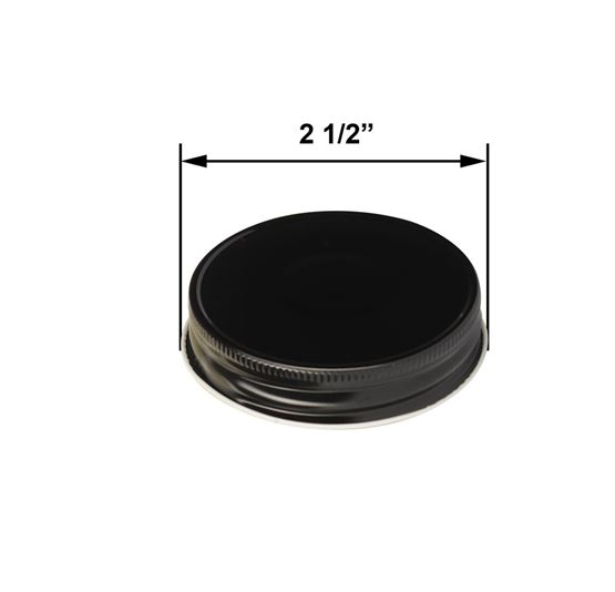 Black Jelly Jar Lid by Maddison Avenue Candle Company