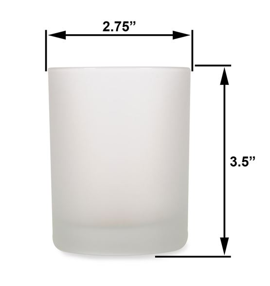 Med - 7.5oz Frost Tumbler Jar by Maddison Avenue Candle Company