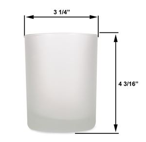 Large - 14oz Frost Tumbler Jar by Maddison Avenue Candle Company