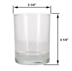 Large - 14oz Clear Tumbler Jar by Maddison Avenue Candle Company