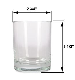 Med - 7.5oz Clear Tumbler Jar by Scented Nest Candle Making Supply Company