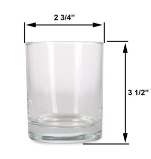 Med - 7.5oz Clear Tumbler Jar by Maddison Avenue Candle Company