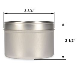 16 oz Deep Metal Tin by Scented Nest Candle Making Supply Company