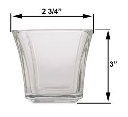 "3"" Square Flare by Scented Nest Candle Making Supply Company"