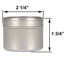 4 oz Deep Metal Tin by Scented Nest Candle Making Supply Company
