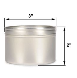 8 oz Deep Metal Tin by Scented Nest Candle Making Supply Company